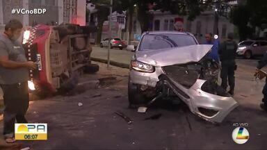 Três acidentes de trânsito são registrados no início da manhã desta quinta (8), em Belém - Três acidentes de trânsito são registrados no início da manhã desta quinta (8), em Belém