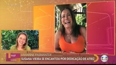 Susana Vieira manda mensagem para Vivianne Pasmanter - Vivianne participa do '#TBT do Encontro' e relembra bastidores de gravação da novela 'Mulheres de Areia', que entrou no catálogo do Globoplay