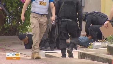 Bope detalha negociação com criminosos que fizeram 4 reféns em casa em Macapá - Negociação foi extensa e cessou com a chegada de familiares dos criminosos. Não houve troca de tiros e nenhuma das vítimas foi ferida.