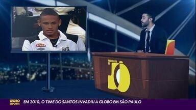 Em 2010, time do Santos invadiu a Globo em São Paulo - Em 2010, time do Santos invadiu a Globo em São Paulo
