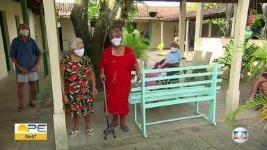 Solidariedade ajuda a manter instituição de caridade com mais de 100 anos - Abrigo Cazuza Pinheiro é lar de vários idosos.