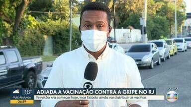 Vacinação contra gripe é adiada no RJ - Seguindo o calendário nacional, muitos municípios anunciaram o início da vacinação para esta segunda, mas as doses não chegaram.