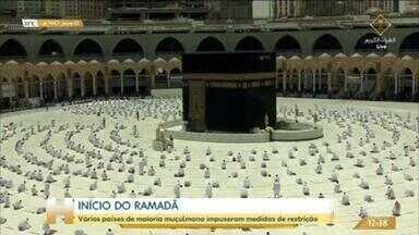 Ramadã começou com restrições em vários países muçulmanos - Em Meca, na Arábia Saudita, apenas fiéis vacinados contra a Covid-19 ou que tiveram a doença recentemente puderam participar das orações.