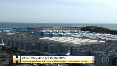 Japão anuncia que vai liberar água contaminada de Fukushima no mar - Governo japonês disse que água será tratada antes, mas países próximos se manifestaram contra decisão.