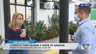 Comerciantes de São José se preparam para a reabertura das lojas neste domingo - Presidente da Associação Comercial de São José dos Campos fala sobre os preparativos para reabertura.