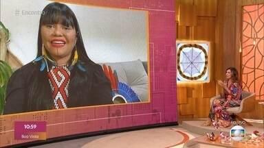 Programa de 19/04/2021 - 'Encontro' homenageia os povos indígenas com programa especial. Fátima Bernardes bate papo animado para entender como se formou o paredão e como foi a reação da galera na casa do 'BBB21
