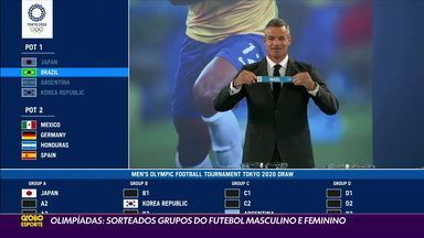 Olimpíadas: Grupos do futebol masculino e feminino são sorteados - Olimpíadas: Grupos do futebol masculino e feminino são sorteados