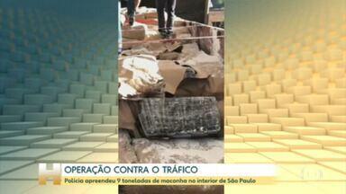 Polícia apreende 9 toneladas de maconha no interior de SP em uma operação contra o tráfico internacional de drogas - 6 suspeitos foram presos na ação desta quinta-feira.