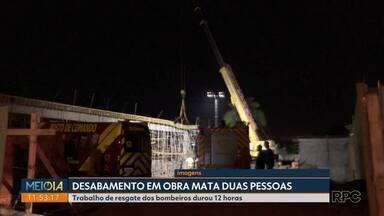 2 pessoas morrem em desabamento de prédio em Foz do Iguaçu - Trabalho de resgate dos bombeiros durou 12 horas
