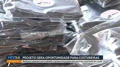 Projeto ajuda costureiras com a confecção de máscaras de pano - Mulheres estavam sem trabalho e graças ao projeto da CUFA, elas conseguiram uma fonte de renda
