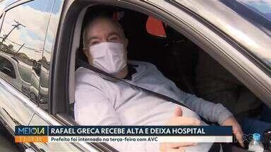 Rafael Greca recebe alta e deixa hospital de Curitiba - Prefeito estava internado por conta de um AVC isquêmico