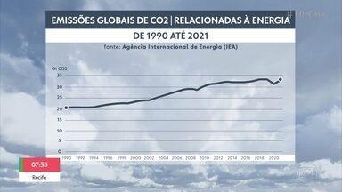 'Blitz do Tempo': emissões de gás carbônico aumentam em meio à pandemia - Frente fria deve derrubar a temperatura no Centro e Sul do Brasil. Grilos invadiram a cidade de Campo Grande, no Mato Grosso do Sul