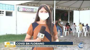 Atendimento a pessoas com sintomas de Covid-19 reduziu 27% em um mês em Floriano - Atendimento a pessoas com sintomas de Covid-19 reduziu 27% em um mês em Floriano