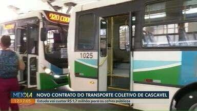 Estudo avalia transporte público em Cascavel - Contrato da avaliação vai custar R$ 1,7 milhão para os cofres públicos.