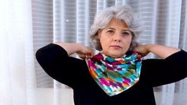 Com marca de lenços em seda pura, empresária se reinventa depois dos 50 anos - Durante a pandemia do coronavírus, ela investiu em novas parcerias. Também fez cursos online e conquistou novos canais de venda.