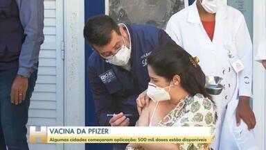 Cidades começam a aplicar a vacina da Pfizer - Ministério da Saúde entregou 500 mil doses para os Estados na segunda-feira