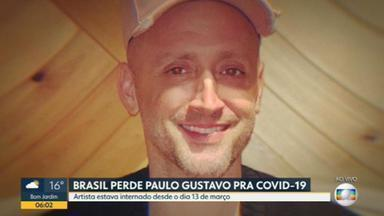 Brasil perde Paulo Gustavo por Covid, aos 42 anos - Depois de quase dois meses lutando contra a doença no hospital, Paulo Gustavo morreu ontem à noite, aos 42 anos, no dia em que o país passou das 411 mil mortes por Covid-19.