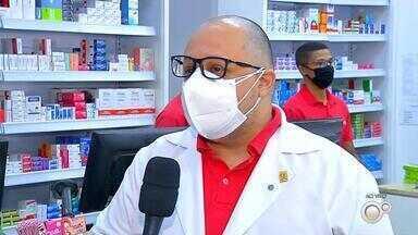 Farmácias da região de Araçatuba fazem campanha de arrecadação de alimentos - Farmácias de todo o estado de São Paulo estão organizando uma campanha de arrecadação de alimentos para repassar a famílias com dificuldades durante a pandemia. Na região de Araçatuba (SP), 27 farmácias já se tornaram pontos de arrecadação.