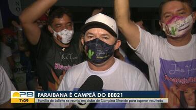 Campina Grande tem comemorações pela vitória de Juliette Freire no BBB21 - Família comemorou a vitória da paraibana, e população fez carreata para celebrar.