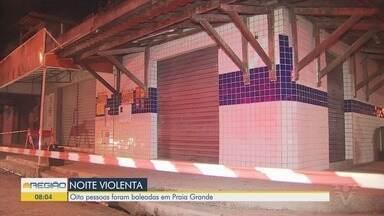 Oito pessoas ficam feridas durante ataque a bar em Praia Grande - Tentativa de homicídio ocorreu, por volta das 22h, em um bar na Vila Sônia, em Praia Grande.