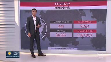 Minas registra 441 novas mortes por Covid-19 em 24 horas - Mais de 9,2 mil novos casos foram confirmados.