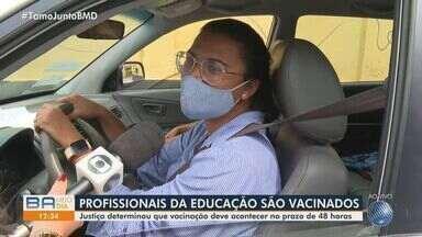 Vacinação contra Covid-19 em profissionais da educação de Salvador segue em andamento - Justiça determinou que a imunização deve acontecer no prazo de 48 horas.