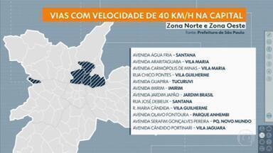 VIAS DA CAPITAL TÊM VELOCIDADE REDUZIDA -   Limite máximo caiu de 50km/h para 40km/h