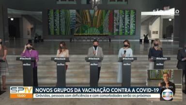 Governo de SP anuncia novos grupos de vacinação contra a Covid-19 - Grávidas, pessoas com deficiência e com comorbidades serão os próximos.