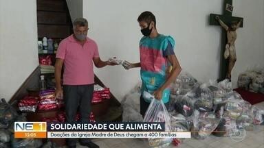 Igreja da Madre de Deus faz campanha de solidariedade - As doações estão beneficiando mais de 400 famílias da comunidade do Pilar, no Recife