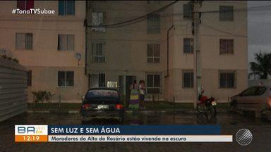 Moradores do conjunto residencial seguem sem energia após incêndio atingir medidores - Energia elétrica não chega na região desde o dia 25 de abril.