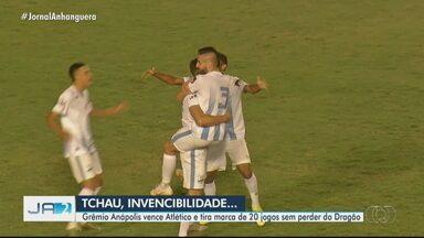 Grêmio Anápolis vence Atlético na semifinal do Goianão - Time tira marca de 20 jogos do Dragão sem perder.