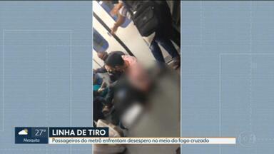 Vídeo mostra passageiro baleado no Metrô - Na manhã desta quinta-feira (6) dois passageiros dentro de um vagão da Linha 2 do metrô foram feridos após uma bala perdida estilhaçar uma janela.