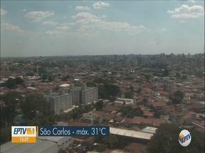 Veja a previsão do tempo para São Carlos e região - Tempo seco deve amenizar com a vinda dos ventos da frente fria.