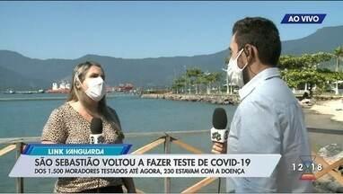 São Sebastião faz testes rápidos contra Covid - Cerca de 230 foram diagnosticados com a doença