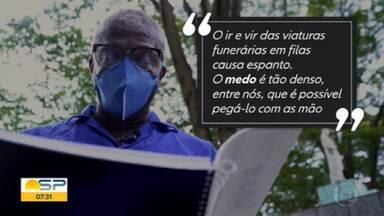 A rotina dos coveiros na pandemia - Estado de São Paulo vai superar a marca trágica de 100 mil mortos pela covid-19.