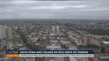 Massa de ar polar derruba a temperatura em todo Paraná - Londrina teve mínima de 14 graus, mas sul do estado chegou aos 5 graus.