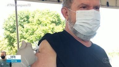 Governador Mauro Carlesse (PSL) recebe 1ª dose da vacina contra a Covid-19 - Governador Mauro Carlesse (PSL) recebe 1ª dose da vacina contra a Covid-19