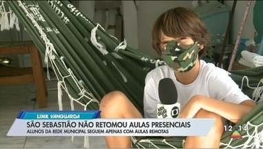 São Sebastião segue com aulas remotas - Alunos da rede municipal seguem apenas com aulas à distância