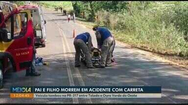 Fim de semana é marcado por acidentes graves na região de Cascavel - Três mortes foram registradas em rodovias estaduais e federais.