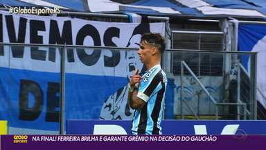 Com Ferreira como protagonista, Grêmio vence o Caxias e está na final do Gauchão - O atacante brilhou com uma assistência e um gol na vitória por 2 a 0.