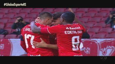 Yuri Alberto e Thiago Galhardo lideram a goleada no Juventude e Inter avança à final - Com a lesão de Palacios ainda no primeiro tempo, Yuri entrou na partida e marcou o primeiro gol.