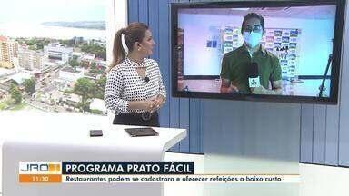 Restaurantes podem se cadastrar e oferecer refeições a baixo custo através do Prato Fácil - Programa será lançado pelo Governo de Rondônia.