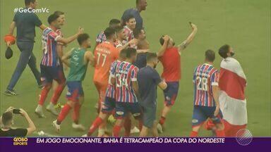 Em jogo emocionante, Bahia vence o Ceará nos pênaltis e garante tetra da Copa do Nordeste - Confira os melhores momentos do jogo.