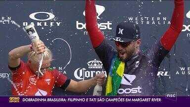 Brasileiros dominam etapa de Margaret River, no Mundial de Surf - Brasileiros dominam etapa de Margaret River, no Mundial de Surf