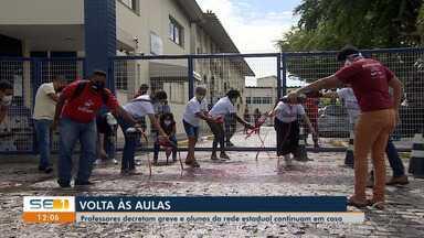 Professores da rede estadual de SE decretam greve - Professores da rede estadual de SE decretam greve .