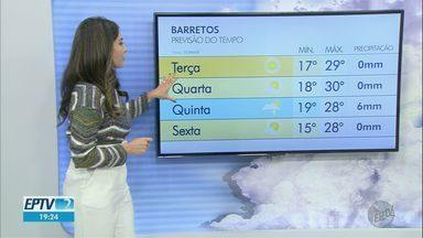 Veja como fica a previsão do tempo para terça-feira (11) na região de Ribeirão Preto - Temperatura pode cair.