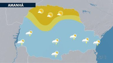 Frente fria muda o tempo no Paraná - Primeiro a chuva depois o frio.