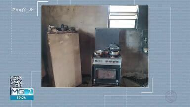 Incêndio é registrado em apartamento em Lima Duarte - Ocorrência foi nesta segunda-feira (10) e ninguém ficou ferido. A Defesa Civil esteve no local e interditou o imóvel.
