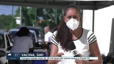 Campos, RJ, recebe mais de 18 mil doses da vacina contra a Covid-19 - Vacinas AstraZeneca e CoronaVac foram entregues nesta segunda-feira (10).