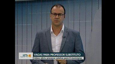 Vagas para professor temporário - Udesc oferece vagas em 8 municípios catarinenses